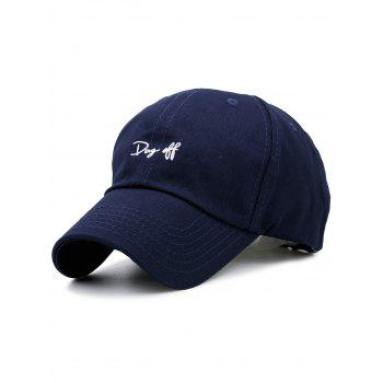 Plain Letters Embroiderid Baseball Cap - PURPLISH BLUE PURPLISH BLUE