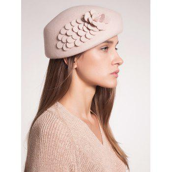 Woolen Pillbox Hoop Hat with Flower