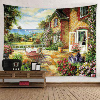 Wall Hanging Art House Garden Print Tapestry