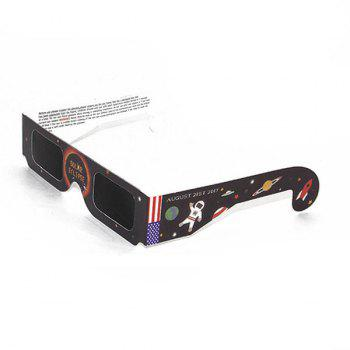UV Protection Safe Solar Eclipse Shades Glasses - BLACK BLACK