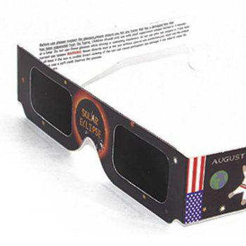 UV Protection Safe Solar Eclipse Shades Glasses - BLACK