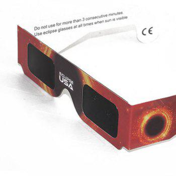 Protection UV Safe Solar Eclipse Shades Glasses - Noir et Orange