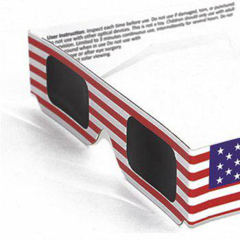 Protection UV Safe Solar Eclipse Shades Glasses - Drapeau de US