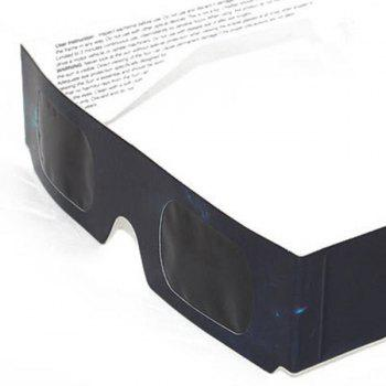 UV Protection Safe Solar Eclipse Shades Glasses -  BLACK GREY