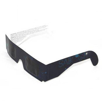 UV Protection Safe Solar Eclipse Shades Glasses - BLACK GREY BLACK GREY