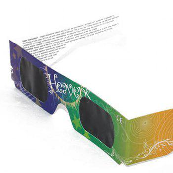 UV Protection Safe Solar Eclipse Shades Glasses -  YELLOW / GREEN