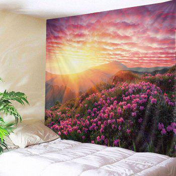 Wall Hanging Art Sunshine Floral Print Tapestry