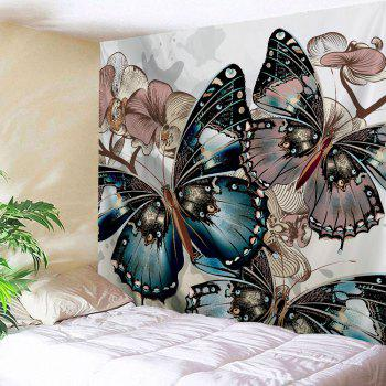 Butterfly Print Home Decor Wall Hanging Tapestry - COLORMIX W71 INCH * L91 INCH