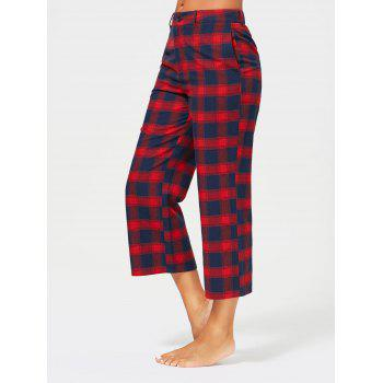 Tartan Plaid Capri Straight Pants