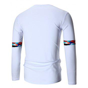Graphic Hipster Long Sleeve T-shirt - WHITE XL