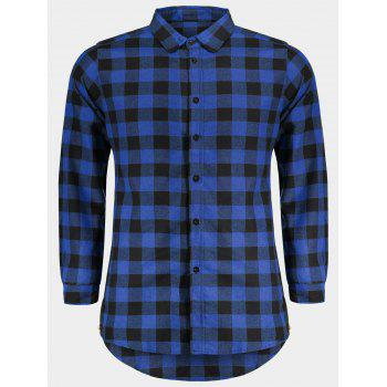 Checked Shirt For Man - BLUE BLUE
