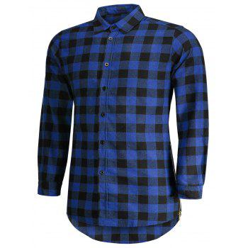 Checked Shirt For Man - BLUE M