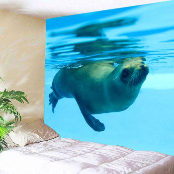 Home Decor Ocean Seal Wall Tapestry - LIGHT BLUE W91 INCH * L71 INCH