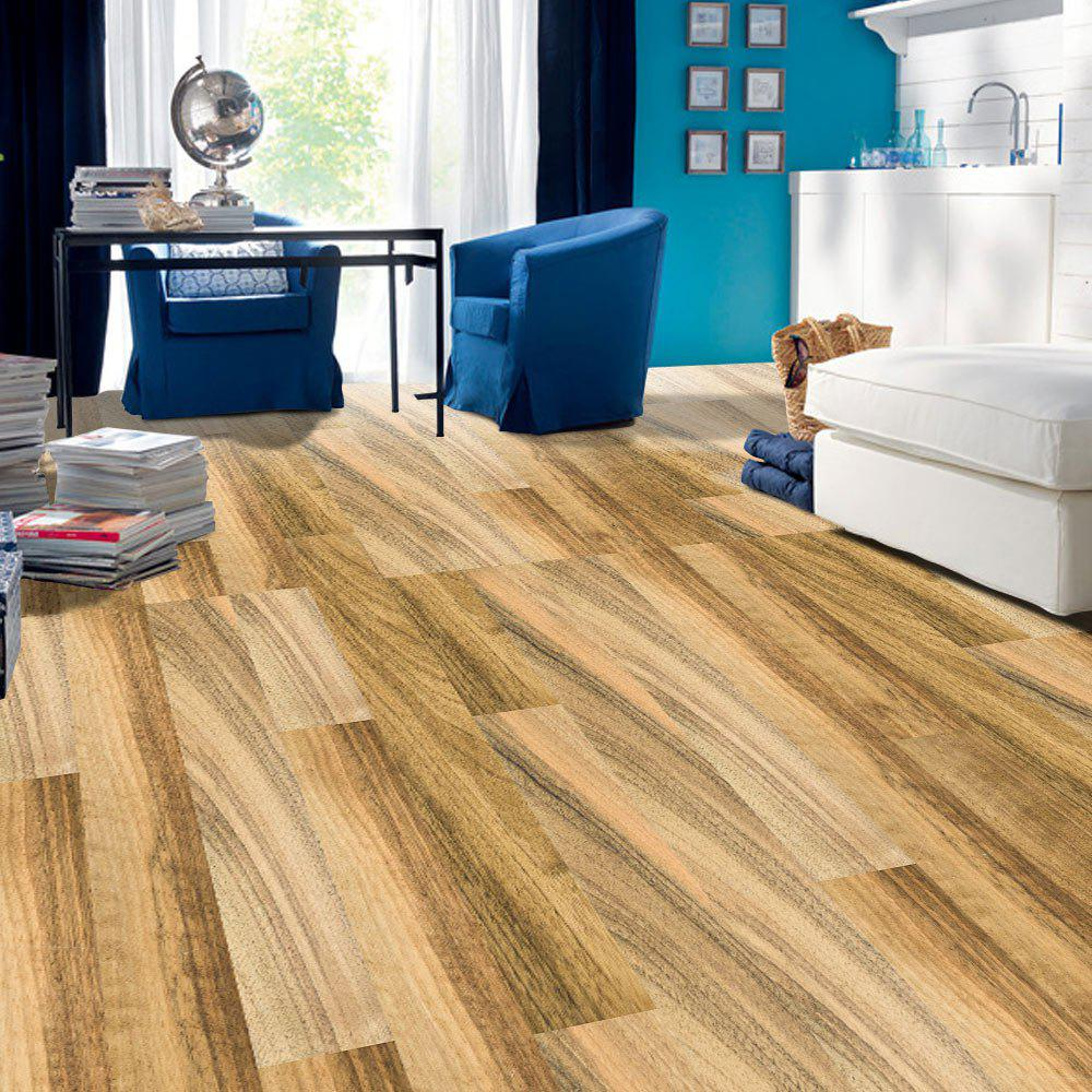 Wood Grain Removable Decorative Floor Sticker - LIGHT BROWN
