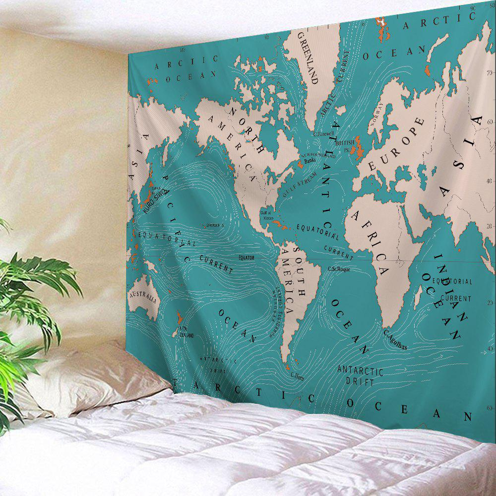 2018 world map polyester fabric wall art tapestry lake blue w inch l world map polyester fabric wall art tapestry lake blue w59 inch l79 inch gumiabroncs Choice Image