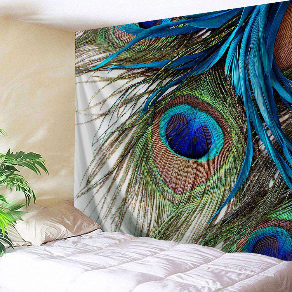 Wall Hanging Peacock Feather Throw Tapestry wall hanging watercolor space throw tapestry