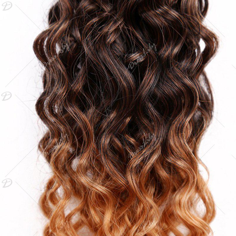 6PCS 14~18 Inches Colormix Jerry Wave Hair Weaves - WINE RED