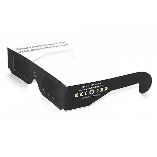 Protection UV Safe Solar Eclipse Shades Glasses - Complet Noir