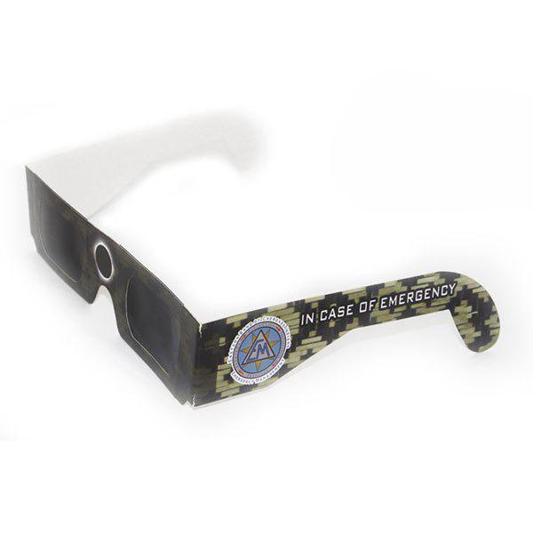 Protection UV Safe Solar Eclipse Shades Glasses - Camouflage ACU