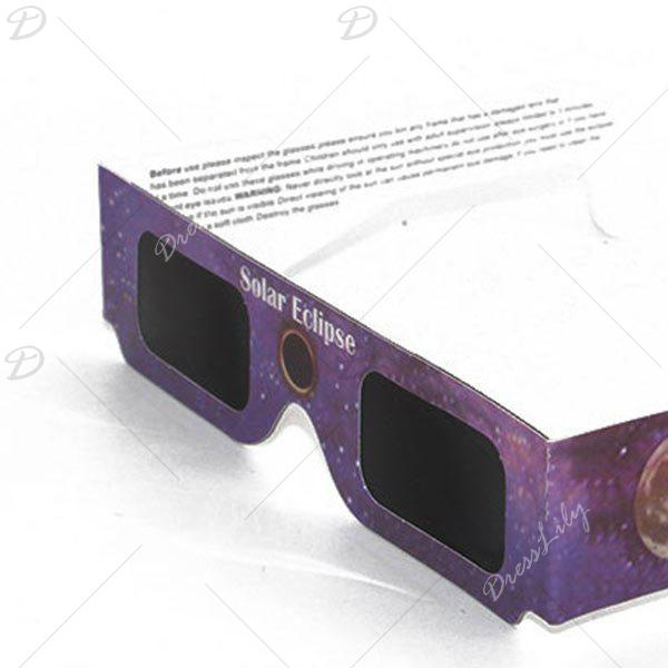 UV Protection Safe Solar Eclipse Shades Glasses - PURPLE