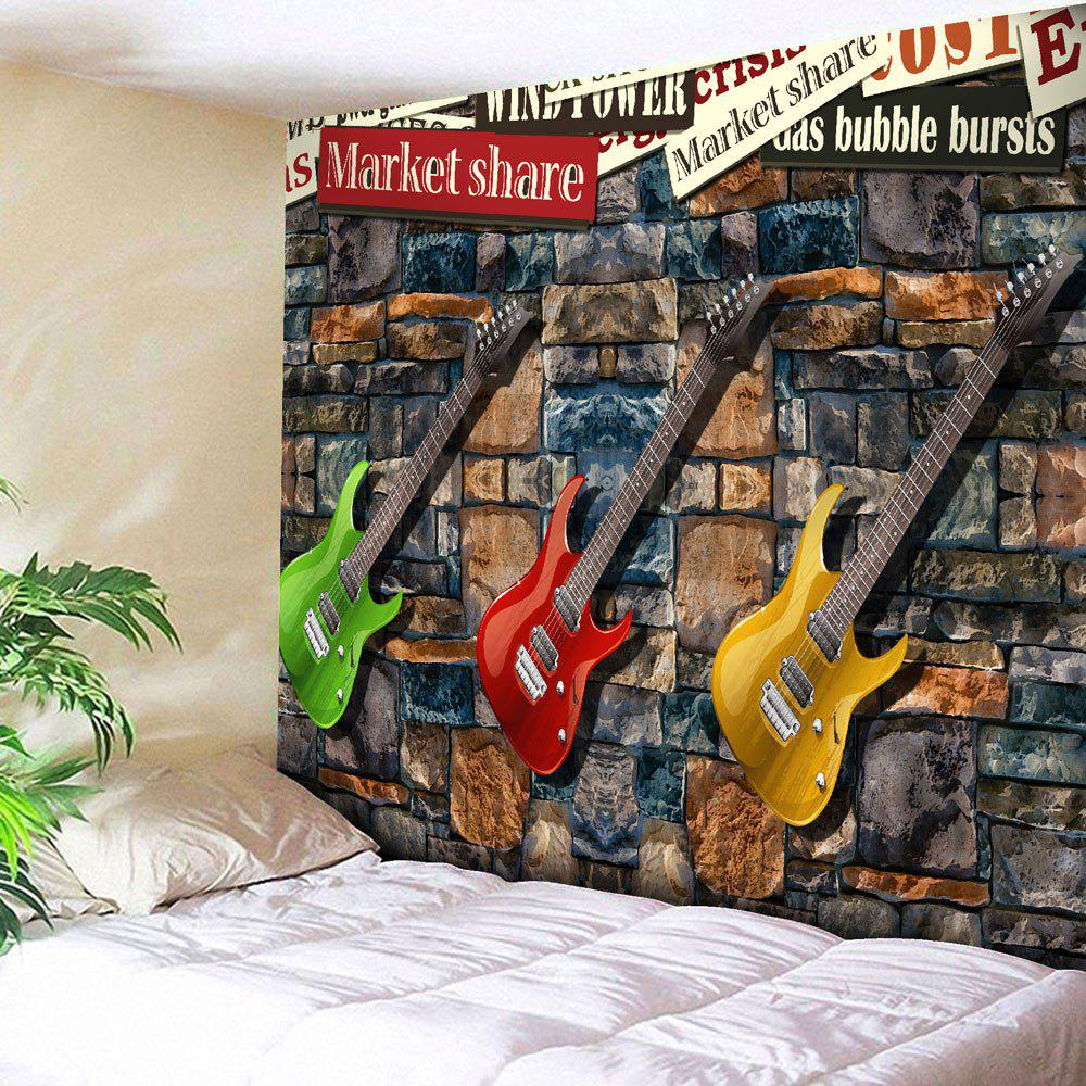 Microfiber Wall Hanging Three Guitar Tapestry guitar parts by 631 guitar st three single panel