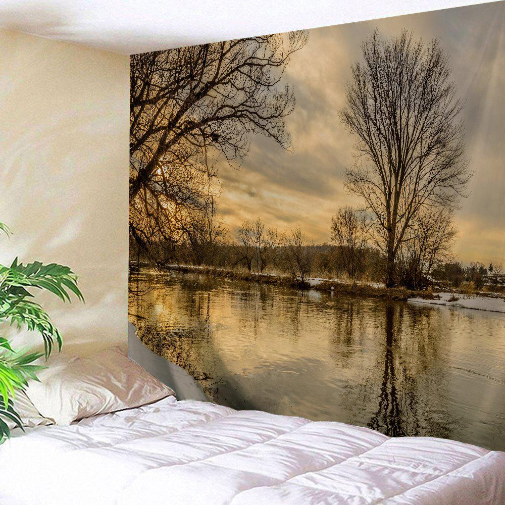 Wall Art Sunset Scenery Outdoor Blanket Tapestry - COLORMIX W59 INCH * L79 INCH