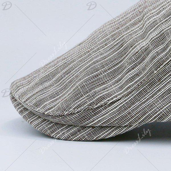 Outdoor Newsboy Cap with Irregular Pinstripe - KHAKI