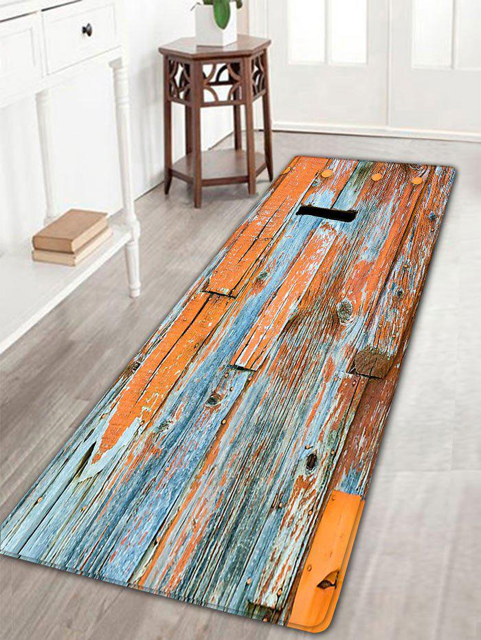 Flannel Skidproof Retro Wood Grain Rug flannel skidproof bath rug with butterfly print