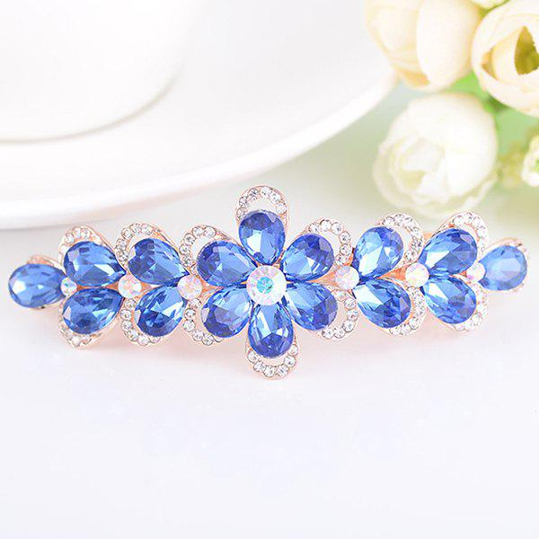 Artificial Crystal Rhinestone Inlaid Floral Barrette tiny rose embellished floral rhinestone barrette
