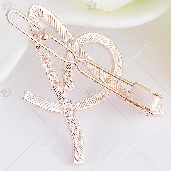 Rhinestones Hollow Out Letter A Hair Clip - COLORFUL