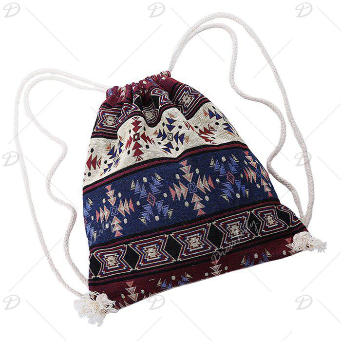 Sac à dos drawstring tribal - multicolorcolore