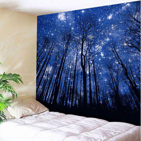 Wall Hanging Forest Pattern Tapestry - DEEP BLUE W59 INCH * L59 INCH