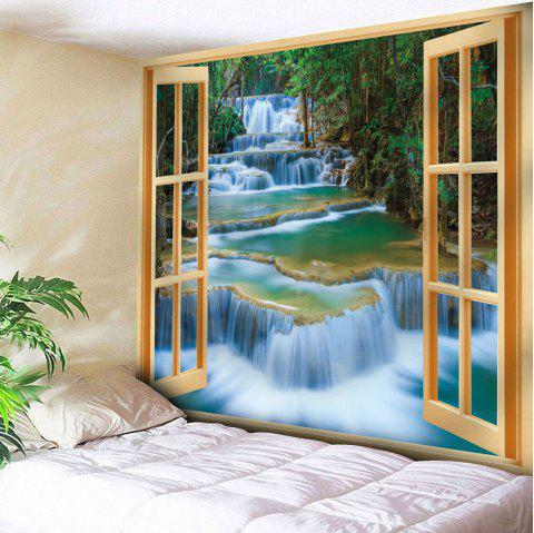 Window Scenery Pattern Wall Hanging Tapestry - YELLOW W59 INCH * L59 INCH