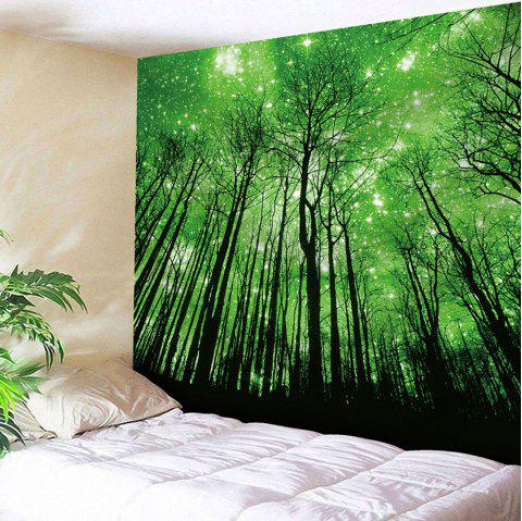 Grove Pattern Wall Hanging Microfiber Tapestry - GREEN W79 INCH * L59 INCH