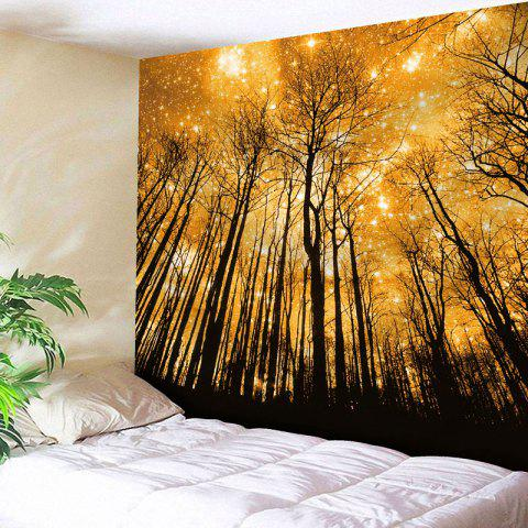 Microfiber Wall Hanging Golden Grove Tapestry - YELLOW W79 INCH * L59 INCH