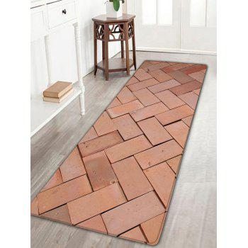 Brick Wall Pattern Flannel Skidproof Area Rug