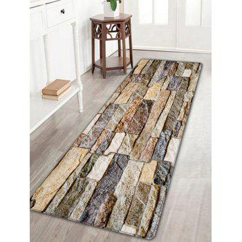 Brick Wall Print Flannel Antislip Area Rug