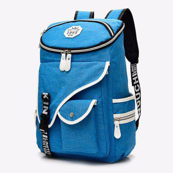 Casual Letter Jacquard Strap Backpack - BLUE