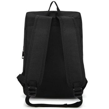 Casual Padded Strap Backpack - BLACK