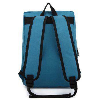 Casual Padded Strap Backpack - PEACOCK BLUE