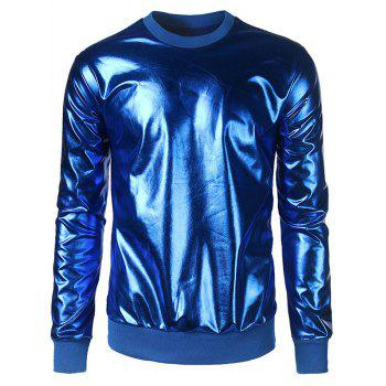 Metallic Color Crew Neck Sweatshirt