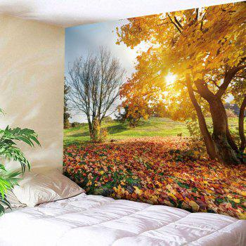 Microfiber Wall Hanging Autumn Landscape Tapestry