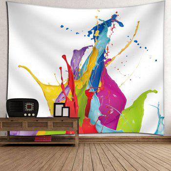 Microfiber Wall Hanging Oil Painting Tapestry - WHITE W79 INCH * L59 INCH