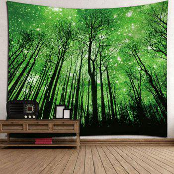 Grove Pattern Wall Hanging Microfiber Tapestry - GREEN W59 INCH * L51 INCH