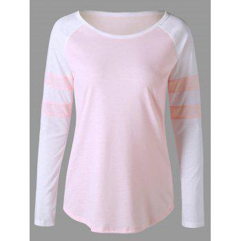 Two Tone Raglan Sleeve Top
