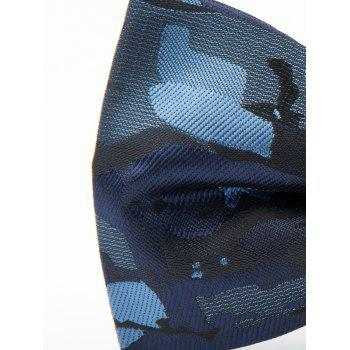 Jacquard Artificial Silk Bow Tie -  BLUE
