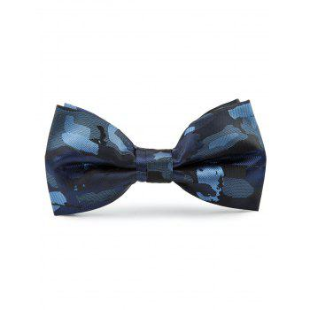 Jacquard Artificial Silk Bow Tie - BLUE BLUE