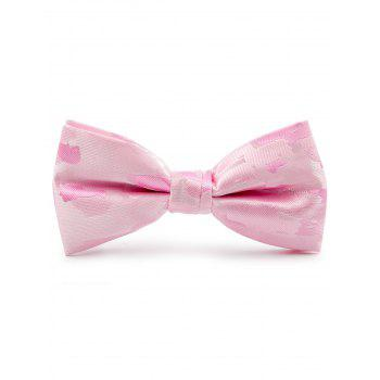 Jacquard Artificial Silk Bow Tie - PINK PINK