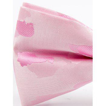 Jacquard Artificial Silk Bow Tie - ROSE PÂLE
