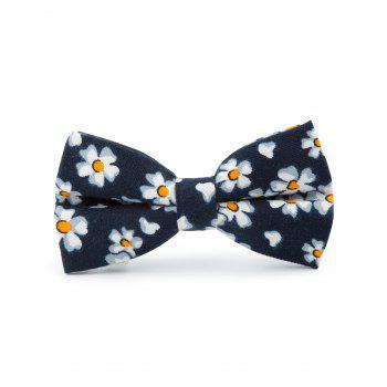 Tiny Flowers Pattern Cotton Blend Bow Tie - CADETBLUE CADETBLUE